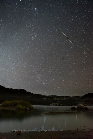 Perseid over Silver Lake