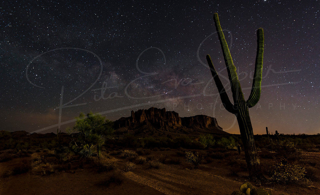 Superstitious Mountain Milky Way