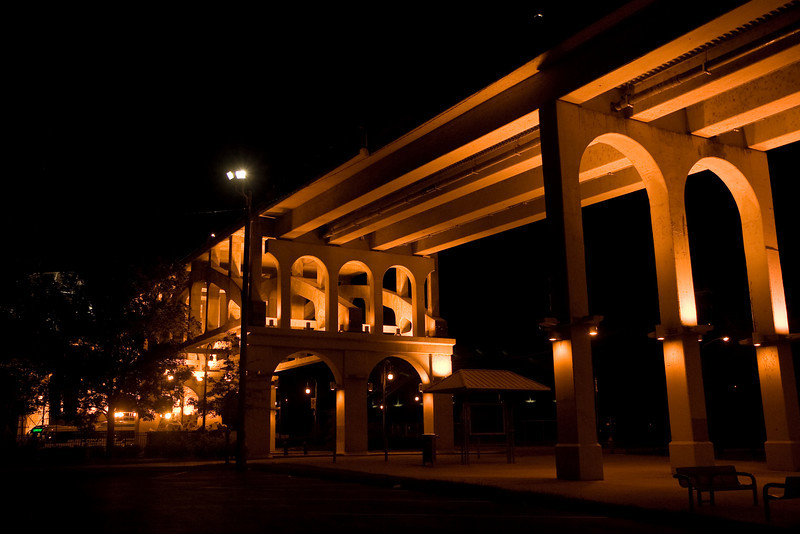 Bridge at night in Nashville