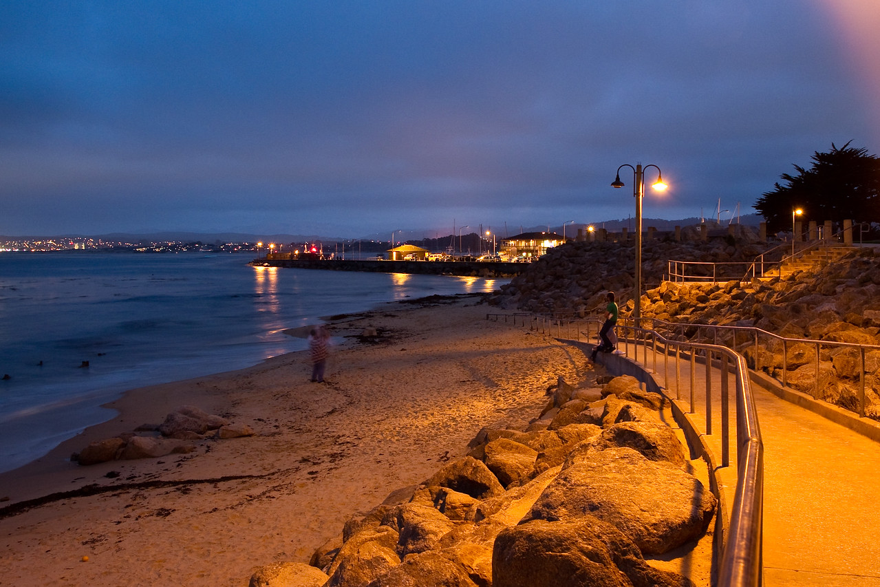 Night scene on Monterey Bay
