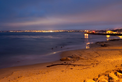 Night scene on Monterey Bay