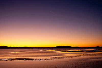 SF Bay mudflats at twilight