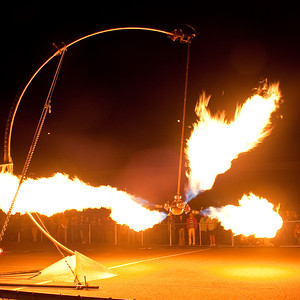Pendulum of Fire by Pyrokinetics at the Crucible's Fire Arts Festival, Oakland, July 2009.