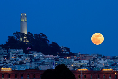 Moonrise and Coit Tower