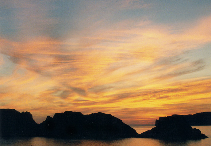 Majorcan sunset August 1997