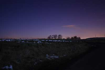 Night shot near Brownside Farm which is between Johnstone and Neilston.