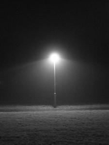 Street light in the fog