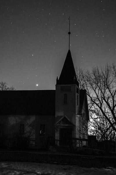 Florida Mesa Church night shot