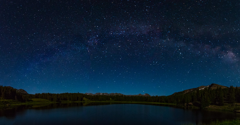 Arch of the Milky Way over Andrews Lake CO