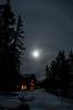 Full moon rising January 2016