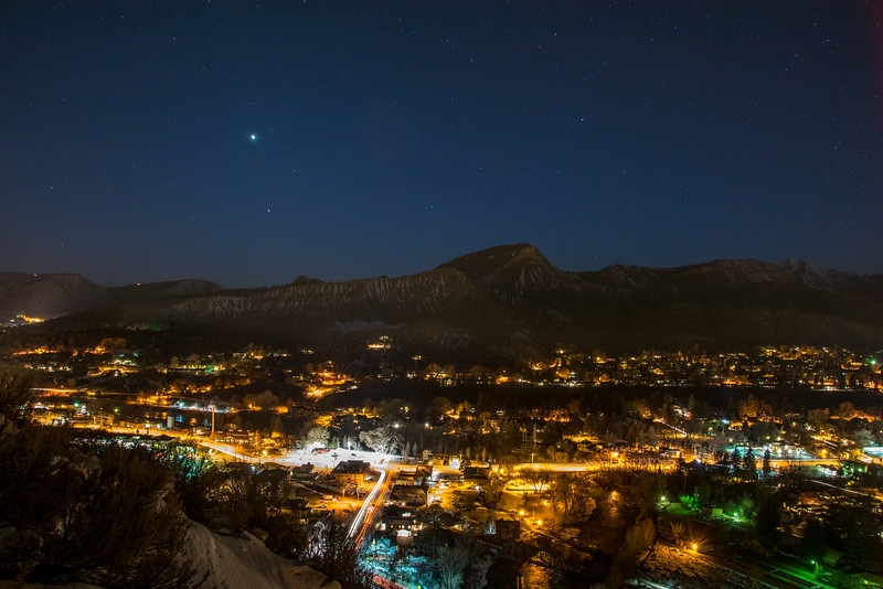 Night falls over Durango