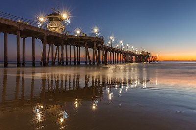December Evening At The Huntington Beach Pier