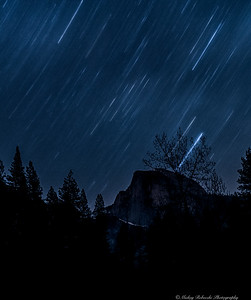 Half Dome Yosemite, Star Trails