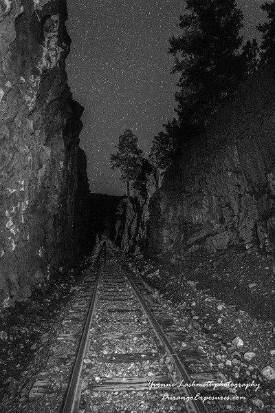 The Rockwood Cut at night