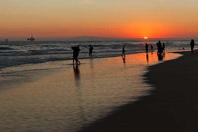 Sundown at Huntington Beach, CA