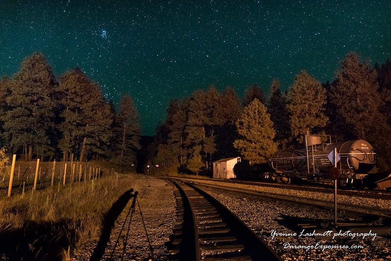 Rockwood, CO under the starry sky