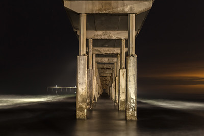 Ocean Beach pier at night