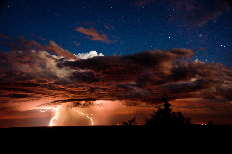 At Mesa Verde National Park I had the chance to watch a storm roll in from New Mexico. The stars above the storm were simply AMAZING!  9/1/13