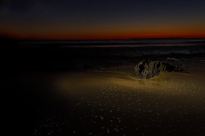 Light the rock at Crystal Cove
