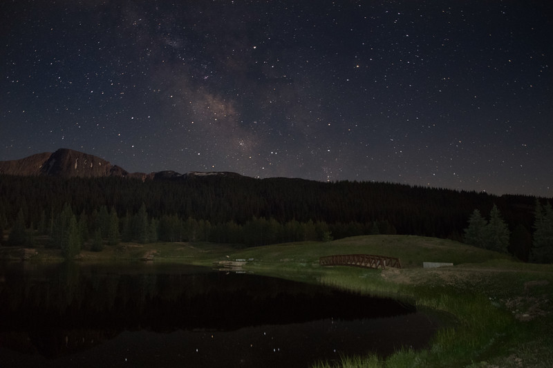 Andrews Lake under the Milky Way