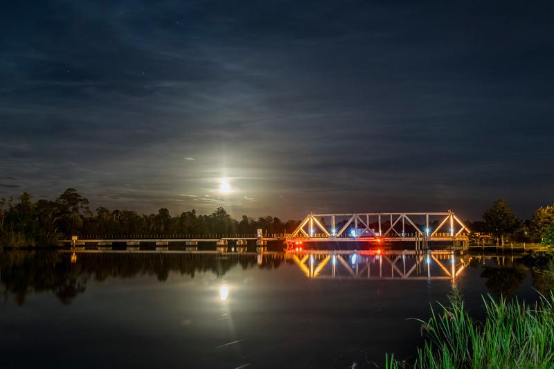 Railroad Bridge at Milton FL