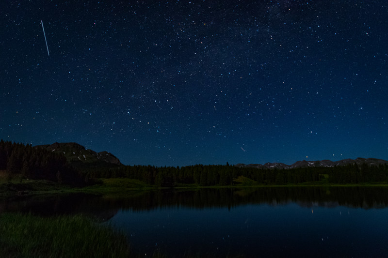 Shooting star over Andrews Lake!