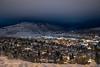 Christmas Eve night over Durango, CO
