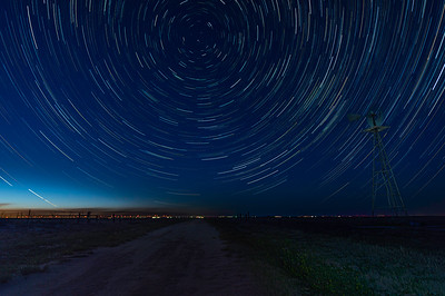 Star Trails Over Secret Road