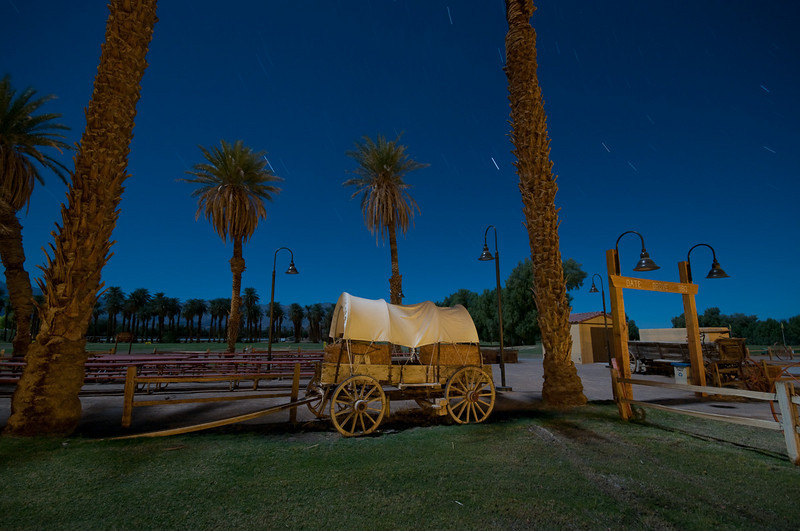 Covered wagon at Furnace Creek Ranch.