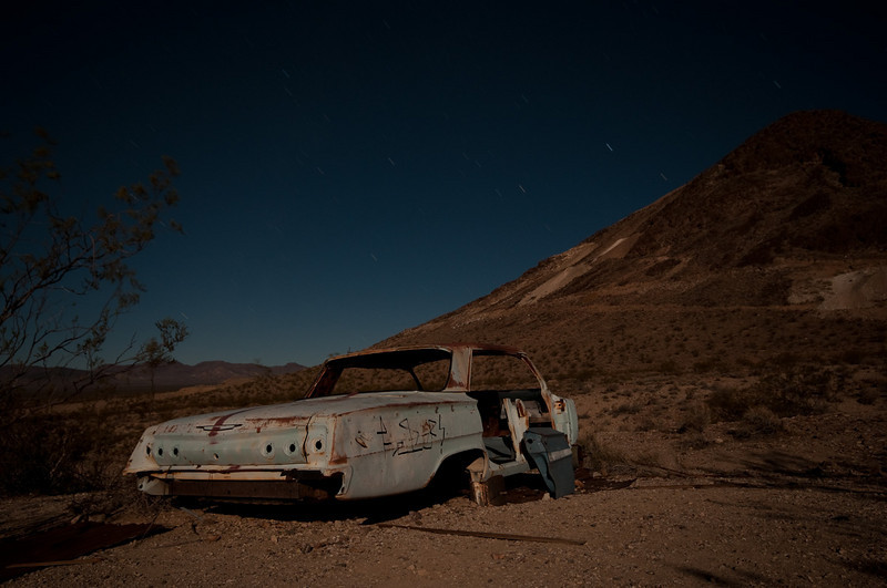 A Chevy Impala left at Rhyolite.
