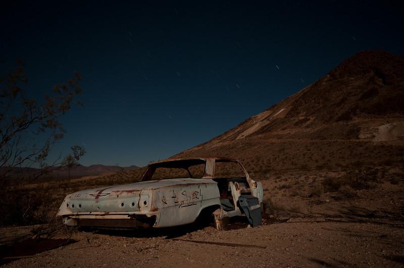 A Chevy Impala left at Rhyolite.