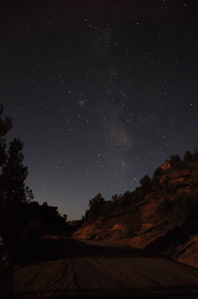 The Milky Way in Angel Canyon, UT