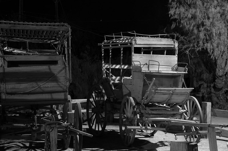 Love the shadows on these coaches at the Furnace Creek Ranch museum.