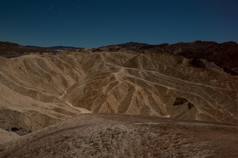 The landscape below Zabriskie Point in Death Valley NP.
