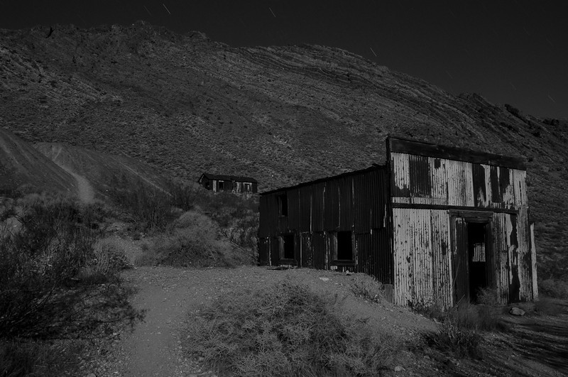 The last surviving buildings in Leadfield, CA.