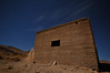 """An odd angle of a """"ghost"""" (who is, in fact, me). Joe Reifer demonstrated this technique at the Noctures Workshop. The building is the old jail in Rhyolite, NV."""