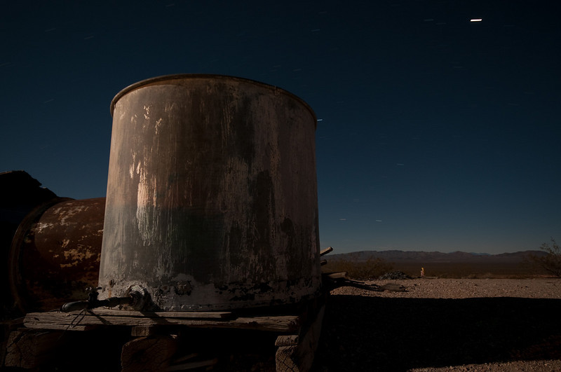 A tank in Rhyolite, NV. This was light painted a bit to bring out detail in the right side of the tank.