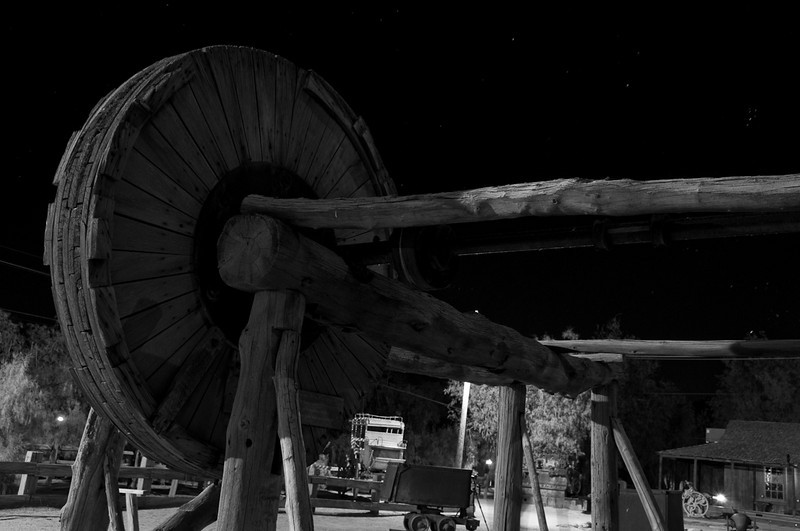 Machinery at the Furnace Creek Ranch museum.