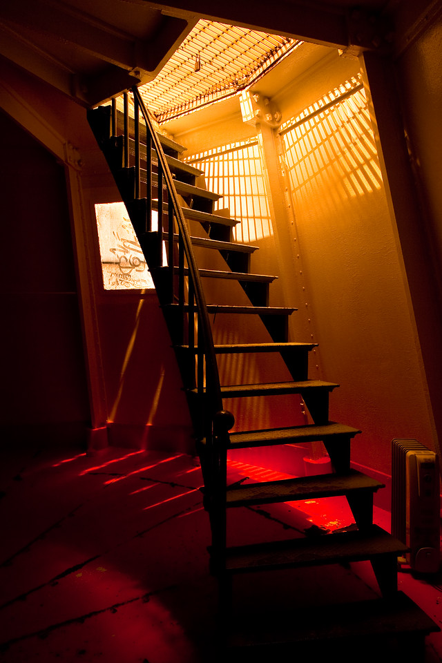 Staircase under lighthouse