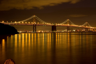 Bay Bridge at night from Treasure Island