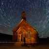 Star Trails over Bodie Church