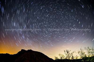 Northern star trails
