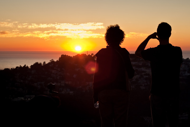 Watching the sunset on Twin Peaks