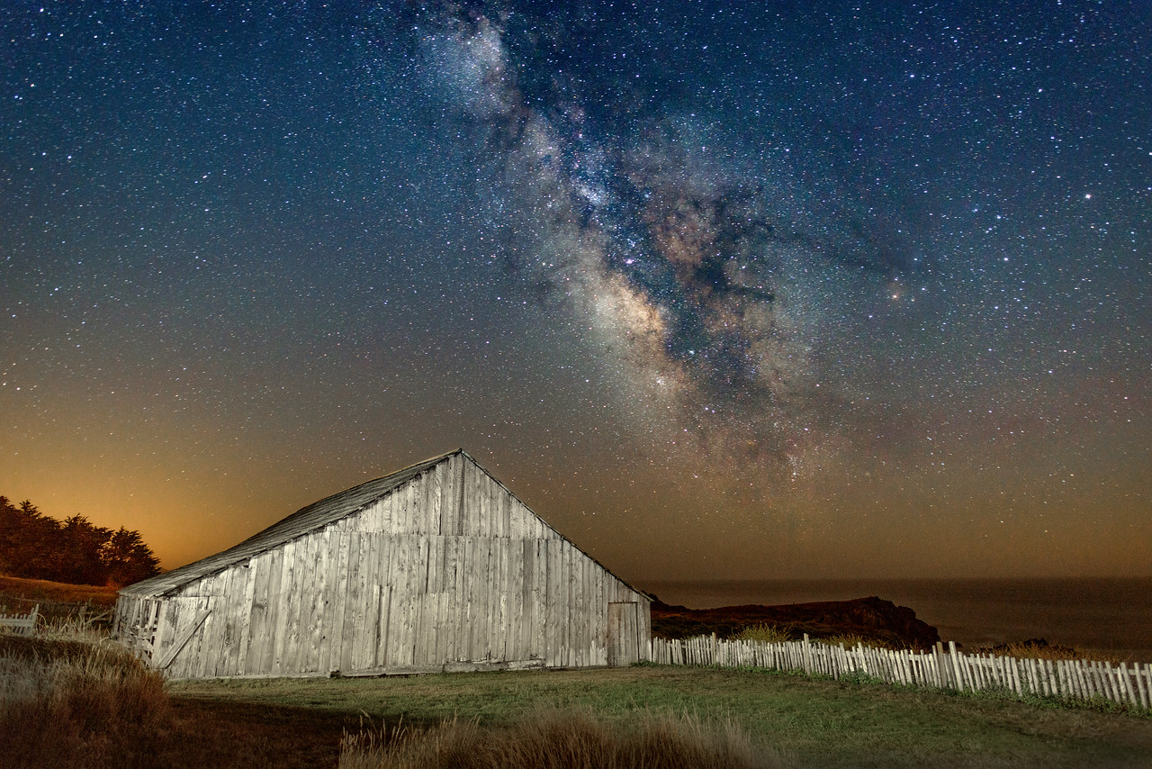 Barn & Milky Way, Sea Ranch, California