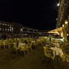 Restaurant in Piazza San Marco late at night, Venice, Italy