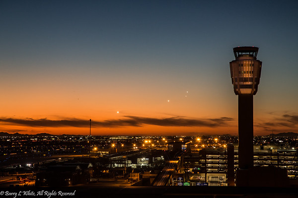 Airport Tower at Sunset