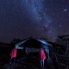 Two Masai warriors guarding my tent at night at Ndutu Wilderness Camp, Tanzania, East Africa