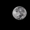 Almost full moon, Ndutu, Tanzania, East Africa