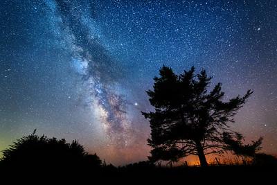 Black Supermoon & Milky Way, Sea Ranch, CA