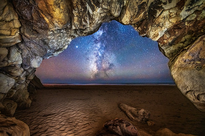 Schooner Beach Sea Cave & Milky Way, Study 2